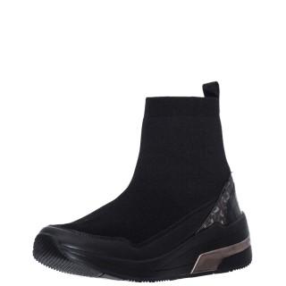 Γυναικεία Μποτάκια V14 62084 Eco Leather Ελαστικό Ύφασμα Μαύρο Gaudi