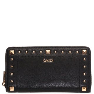 Γυναικεία Πορτοφόλια V9A 71047 Δέρμα Μαύρο Gaudi