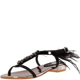 Γυναικεία Πέδιλα 45303 Δέρμα Μαύρο Gioseppo