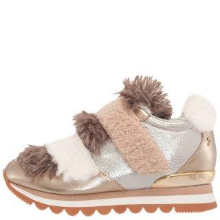 Γυναικεία Sneakers 46068 Eco Leather Ασημί Χρυσό Gioseppo