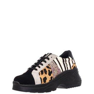 Γυναικεία Sneakers 56745 SANEM Δέρμα Καστόρι Pony Skin Πολύχρωμο Gioseppo