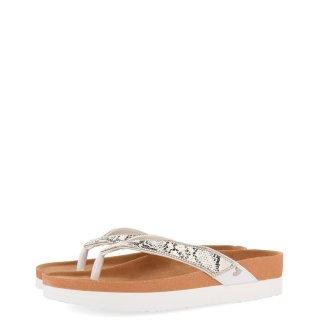Γυναικείες Παντόφλες 59343 COTTONCITY Eco Leather Φίδι Λευκό Gioseppo