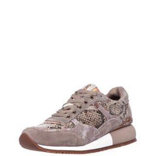Γυναικεία Sneakers 60449 ONHAYE Δέρμα Καστόρι Δέρμα Φίδι Μπεζ Gioseppo