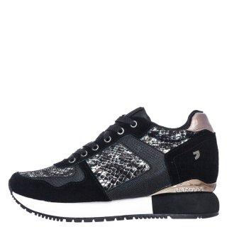 Γυναικεία Sneakers 60450 RAPLA Δέρμα Καστόρι Δέρμα Φίδι Μαύρο Gioseppo