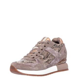 Γυναικεία Sneakers 60450 RAPLA Δέρμα Καστόρι Δέρμα Φίδι Μπεζ Gioseppo