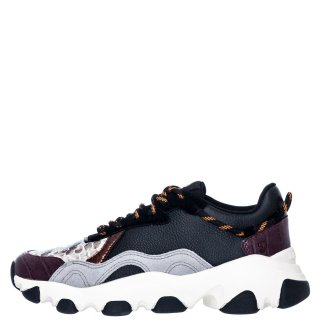 Γυναικεία Sneakers 60455 PERM Δέρμα Δέρμα Καστόρι Μαύρο Πολύχρωμο Gioseppo