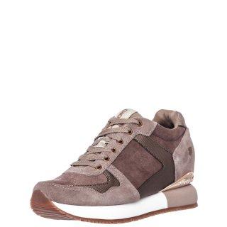 Γυναικεία Sneakers 60833 HAVELANGE Δέρμα Καστόρι Μπεζ Gioseppo