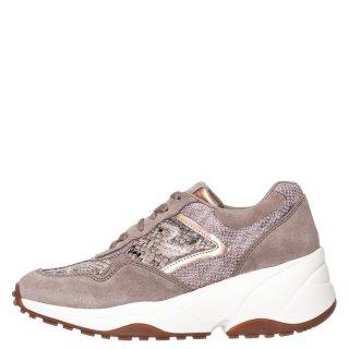 Γυναικεία Sneakers 60859 UFA Δέρμα Καστόρι Δέρμα Φίδι Μπεζ Gioseppo