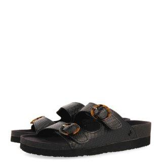 Γυναικείες Παντόφλες 62397 DOYLE Eco Leather Μαύρο Gioseppo