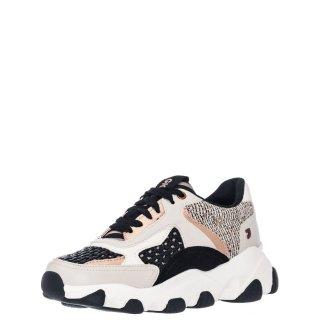 Γυναικεία Sneakers 62574 CHANDLER Δέρμα Δέρμα Καστόρι Μαύρο Μπεζ Gioseppo