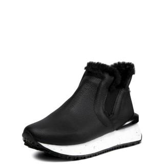Γυναικεία Sneakers 64372 STRYN Δέρμα Μαύρο Gioseppo