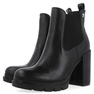 Γυναικεία Μποτάκια 64531 TINDOUF Eco Leather Λάστιχο Μαύρο Gioseppo