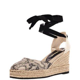 Γυναικείες Πλατφόρμες 19 125 Ύφασμα Eco Leather Μαύρο Μπεζ Grumman