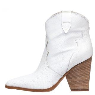 Γυναικεία Μποτάκια 20 106 Δέρμα Λευκό Grumman