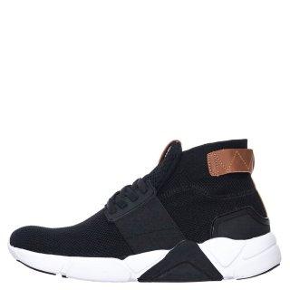 Ανδρικά Sneakers 911106 Ελαστικό Ύφασμα Μαύρο JK London