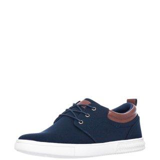 Ανδρικά Casual Παπούτσια L0875 Ύφασμα Μπλέ JK London