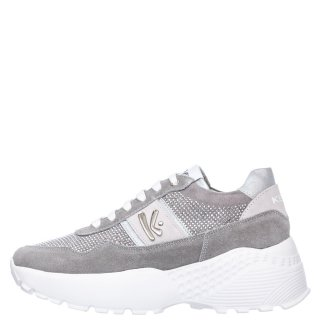 Γυναικεία Sneakers K 4300 Δέρμα Καστόρι Γκρι Ασημί Keys