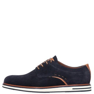 Ανδρικά Casual Παπούτσια 111 Δέρμα Καστόρι Μπλέ Kricket