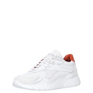 Ανδρικά Sneakers 338 Δέρμα Δέρμα Καστόρι Λευκό Kricket