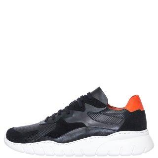 Ανδρικά Sneakers 338 Δέρμα Δέρμα Καστόρι Μαύρο Kricket