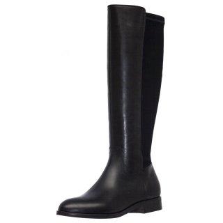 Γυναικείες Μπότες 6015P Δέρμα Ελαστική Λύκρα Μαύρο LeonArch