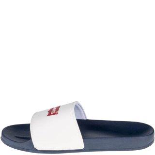 Ανδρικές Σαγιονάρες & Παντόφλες 228998 740 JUNE BATWING Αδιάβροχο Eco Leather Λευκό Levi's
