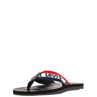 Ανδρικές Σαγιονάρες & Παντόφλες 229989 JURUPA Ύφασμα Eco Leather Μαύρο Levi's