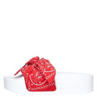 Γυναικείες Παντόφλες 231587 860 JUNE Ύφασμα Κόκκινο Levi's