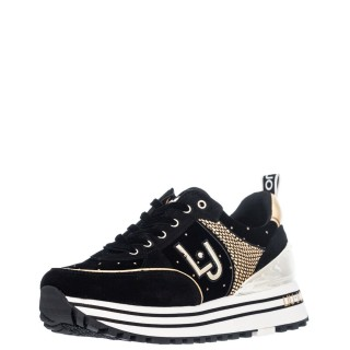 Γυναικεία Sneakers BF1053 PX066 MAXI WONDER 20 Δέρμα Καστόρι Βελούδο Μαύρο Liu-Jo