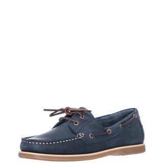 Ανδρικά Boat Shoes SM07804 005 H01 NAVIGATOR Δέρμα Μπλέ Lumberjack