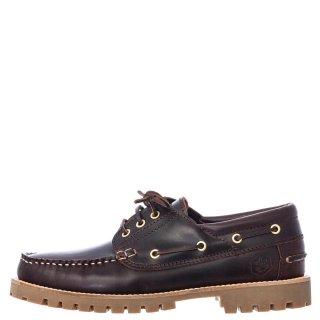 Ανδρικά Boat Shoes SM97414 001 B03 HALLBERG Δέρμα Καφέ Lumberjack