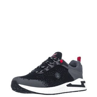 Ανδρικά Sneakers SMA3011 004 LINE Ύφασμα Μαύρο Lumberjack