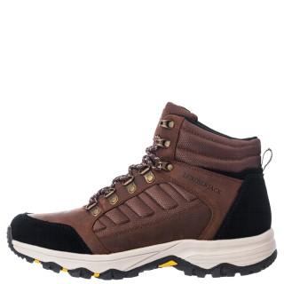 Ανδρικά Μποτάκια SMD3301 001 M08 ORSON Δέρμα Αδιάβροχο Ύφασμα Καφέ Lumberjack