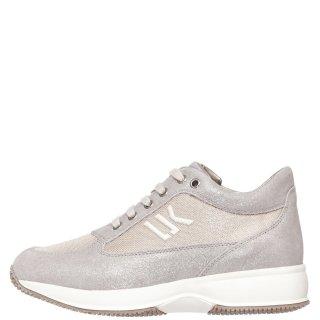 Γυναικεία Sneakers SW01305 008 RAUL Δέρμα Ύφασμα Ασημί Πλατίνα Lumberjack