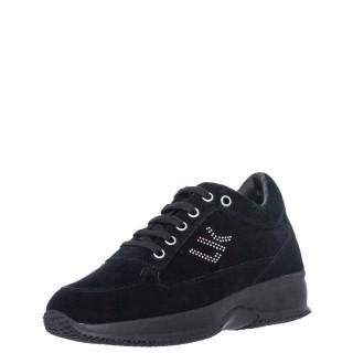 Γυναικεία Sneakers SW01305 010 A01 RAUL Δέρμα Καστόρι Μαύρο Lumberjack