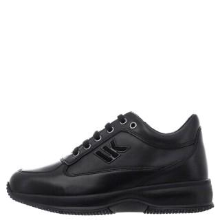 Γυναικεία Sneakers SW01305 010 B01 RAUL Δέρμα Μαύρο Lumberjack