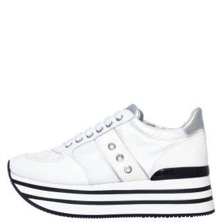 Γυναικεία Sneakers SW58105 001 CONNIE Δέρμα Ύφασμα Λευκό Lumberjack