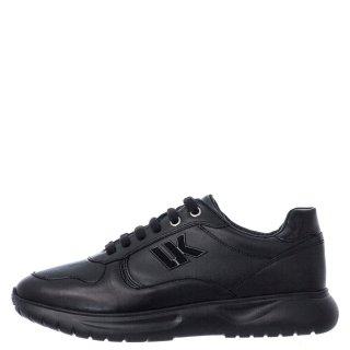 Γυναικεία Sneakers SW70312 003 HAIL Δέρμα Μαύρο Lumberjack