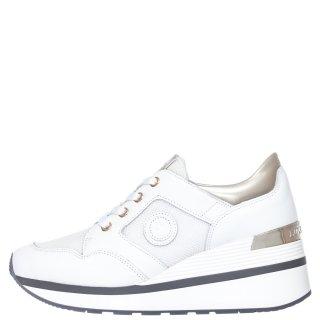 Γυναικεία Sneakers SW88811 001 MILA Δέρμα Ύφασμα Λευκό Πλατίνα Lumberjack
