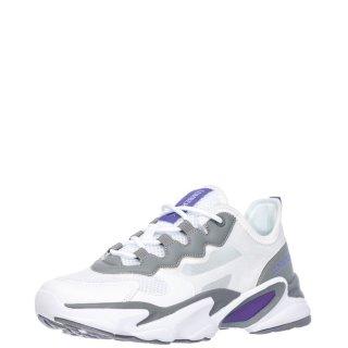 Γυναικεία Sneakers SW97111 002 GLASSY Ύφασμα Eco Leather Λευκό Γκρι Lumberjack