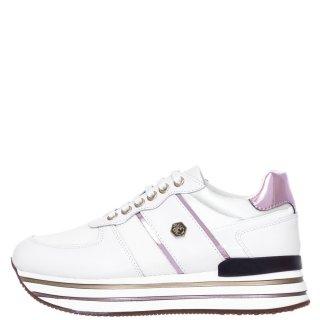 Γυναικεία Sneakers SWA0312 001 HILDA Δέρμα Ύφασμα Λευκό Lumberjack