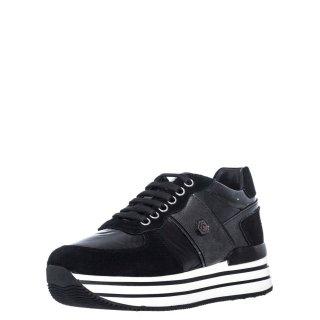 Γυναικεία Sneakers SWA0312 001 M94 HILDA Δέρμα Καστόρι Αδιάβροχο Ύφασμα Μαύρο Lumberjack