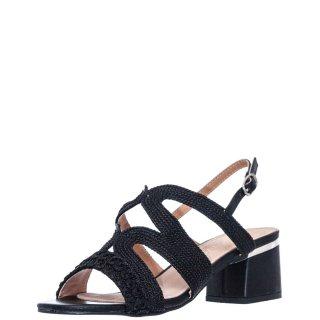 Γυναικεία Πέδιλα V37 11753 Ύφασμα Eco Leather Μαύρο Miss NV