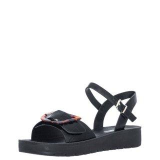 Γυναικεία Πέδιλα V37 13298 Eco Leather Κροκό Μαύρο Miss NV