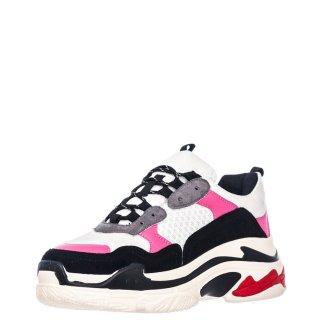 Γυναικεία Sneakers V49 13445 Eco Leather Eco Suede Λευκό Ροζ Miss NV