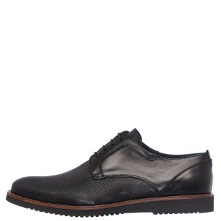 Ανδρικά Casual Παπούτσια 1012/157 Δέρμα Μαύρο Prima L'uomo