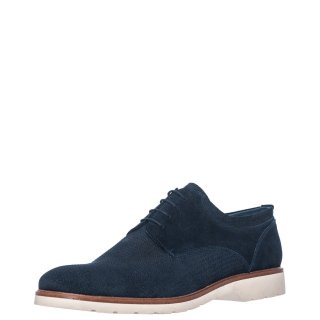 Ανδρικά Casual Παπούτσια 2/144 Δέρμα Καστόρι Μπλέ Prima L'uomo