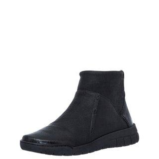 Γυναικεία Μποτάκια 580 20511 Δέρμα Μαύρο RelaxShoe