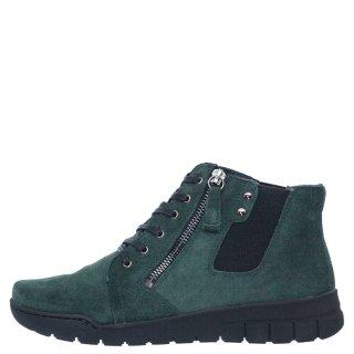 Γυναικεία Μποτάκια 580 20513 Δέρμα Καστόρι Πράσινο RelaxShoe