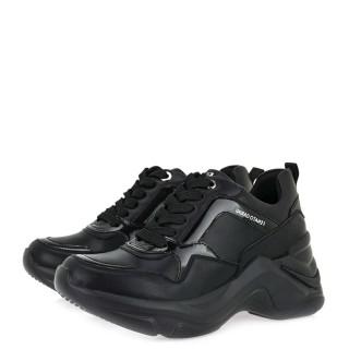 Γυναικεία Sneakers 106 21ΕΧ117 Eco Leather Λουστρίνι Μαύρο Renato Garini